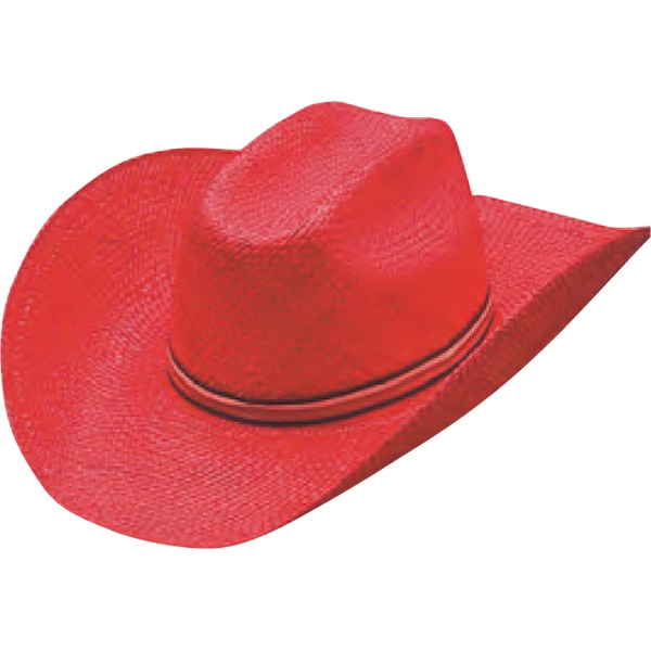Colored Straw Cowboy Hats, Custom Made With Your Logo!