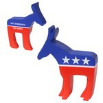 Custom Printed Democratic Campaign Donkey Stress Reliever