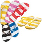 Custom Imprinted Striped Flip Flops