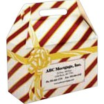 Custom Designed Striped Gift Wrapped Design Donut Boxes