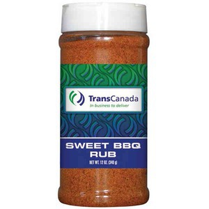 Sweet Barbeque Spices Seasonings and Rubs in Plastic Pint Jars, Custom Printed With Your Logo!