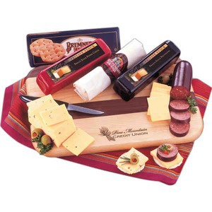 Custom Printed Tailgator Party Perishable Cheese and Sausage Food Gifts