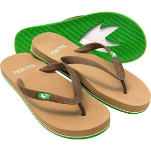 Custom Imprinted Tan Through Flip Flop Sandals