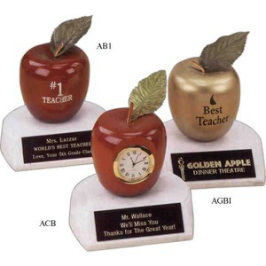 Custom Printed Teacher Apple Trophy Gifts