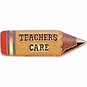 Custom Printed Teacher Pencil Shaped Pin Gifts