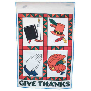 Custom Printed Thanksgiving Holiday Flags
