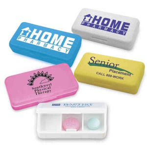 Custom Printed Three Compartment Pill Boxes