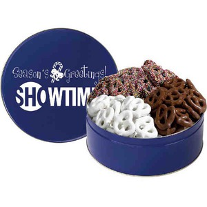 Custom Printed Three Flavor Pretzel Tins