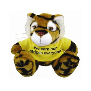 Tiger Mascot Plush Stuffed Animals, Customized With Your Logo!