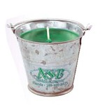 Custom Printed Tin Pail Candles