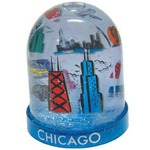 Custom Printed Tower Shaped Snowglobes