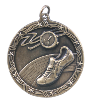Custom Printed Track Shooting Star Medals