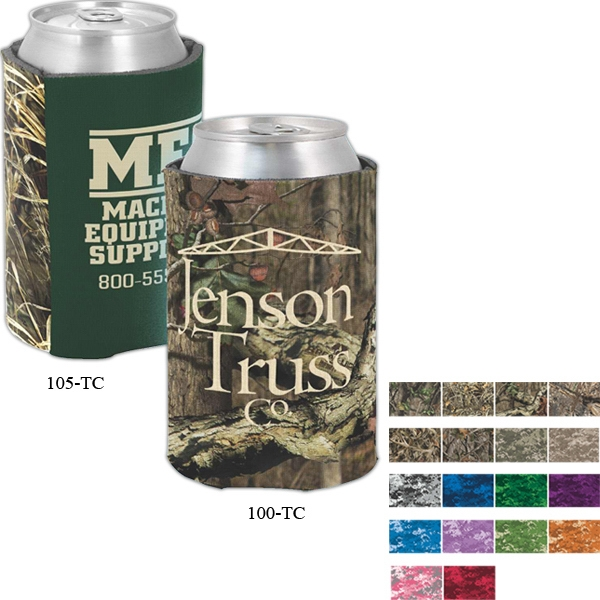 Custom Printed Camouflage Can Coolers