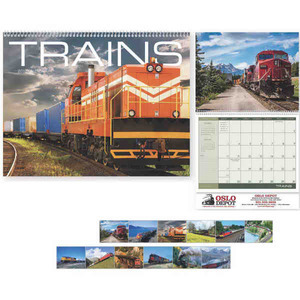 Custom Printed Trains Appointment Calendars