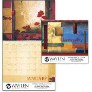 Custom Printed Tranquility Appointment Calendars