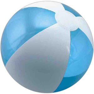 Custom Printed Translucent Blue and White Alternating Color Beach Balls