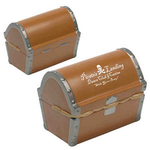 Custom Printed Treasure Chest Shaped Stress Relievers