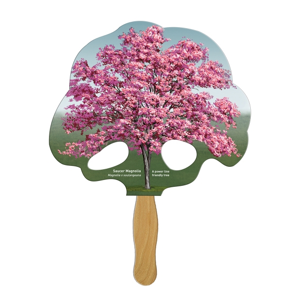 Custom Printed Tree Stock Shaped Paper Fans