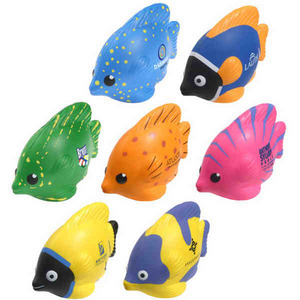 Custom Imprinted Luau Fish Shaped Stress Relievers