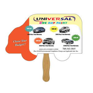 Custom Printed Truck Stock Shaped Paper Fans