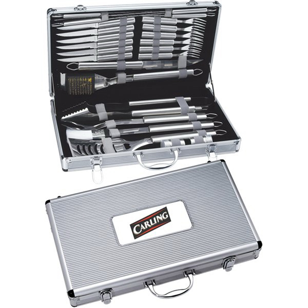 Custom Printed Canadian Manufactured 5 Piece Titanium BBQ Sets