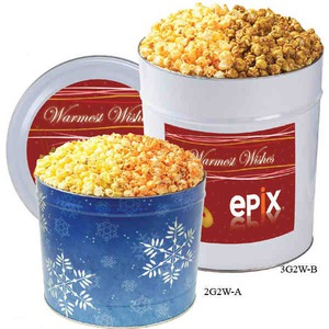 Custom Printed Two Flavor Popcorn Tins