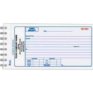 Custom Printed Two Part Cash Receipt Books