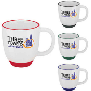 Custom Printed Two Tone Bistro Mugs