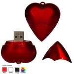 Custom Imprinted Heart Shaped USB Flash Drives
