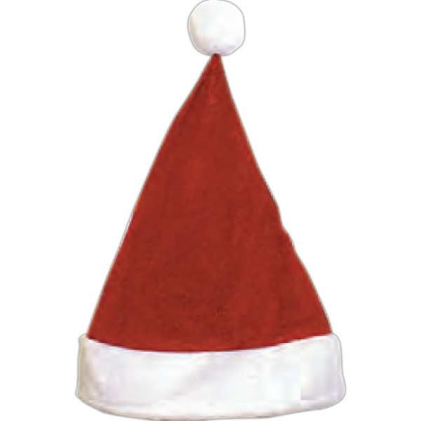 Velvet Santa Hats, Custom Decorated With Your Logo!