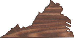 Custom Printed Virginia State Shaped Plaques