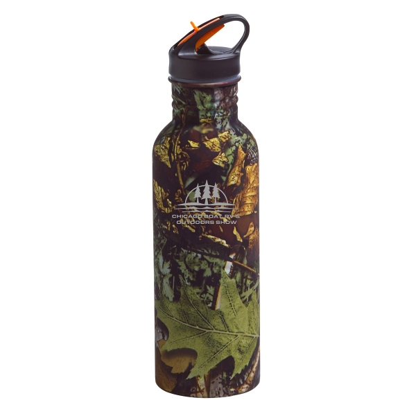Custom Printed 22oz. Aluminum Camouflage Water Bottles