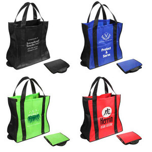 Custom Printed Wave Design Tote Bags