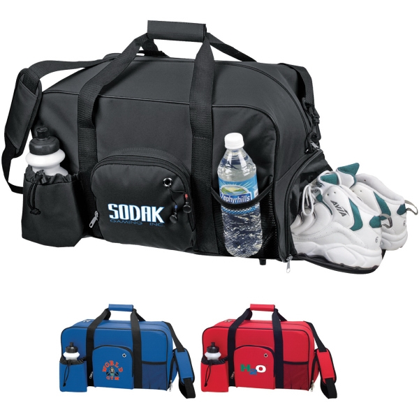 Custom Printed 1 Day Service Duffel Bags with Accessory Pockets