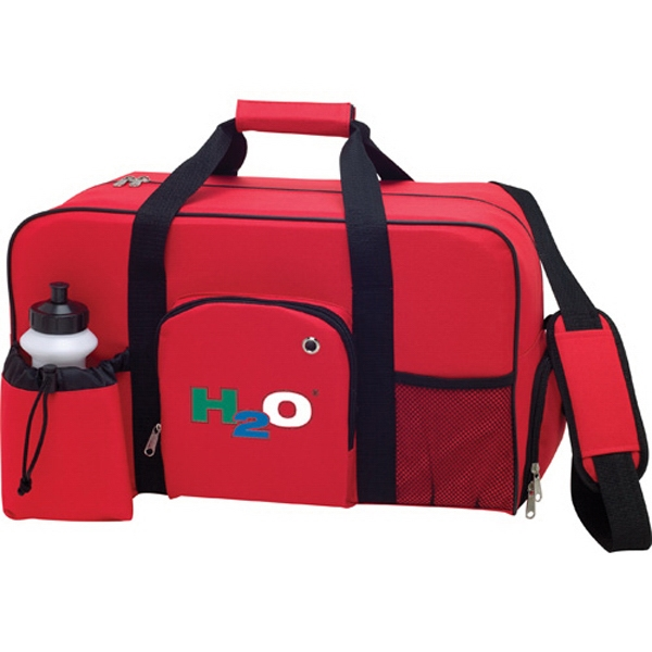 1 Day Service Duffel Bags with Bottles, Custom Decorated With Your Logo!