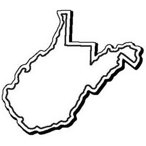 Custom Printed West Virginia Shaped Magnets
