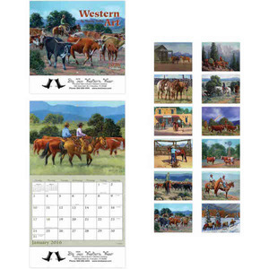 Custom Printed Western Art Appointment Calendars