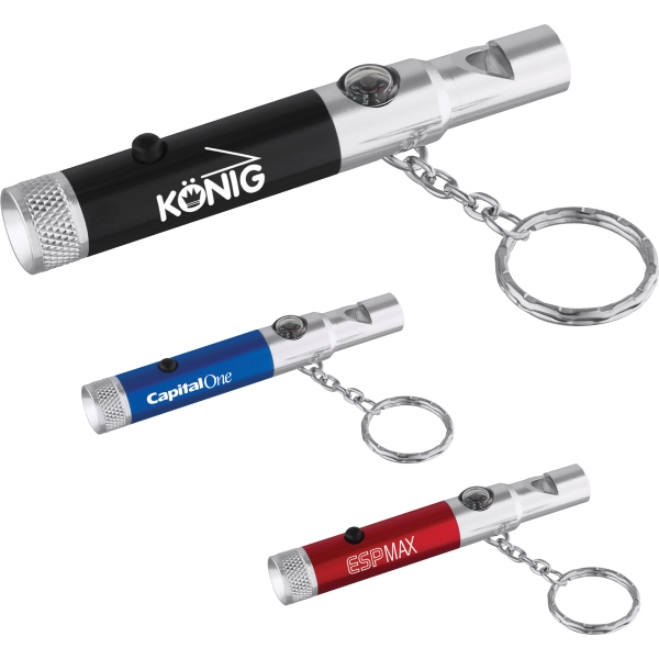 1 Day Service Flashlights with Compasses, Customized With Your Logo!