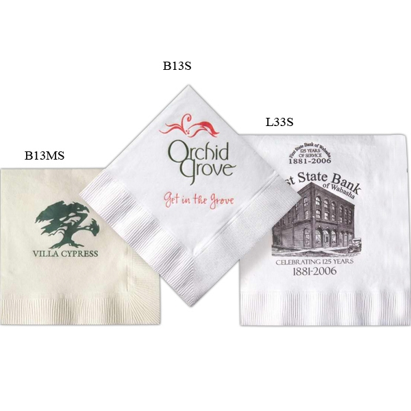 Custom Imprinted Beverage Napkins