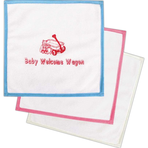 Baby Washcloths, Custom Imprinted With Your Logo!