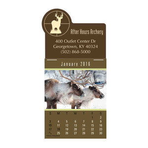 Custom Printed Wildlife Press And Stick Calendars