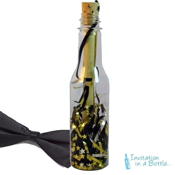 Black Tie Message in a Bottles, Custom Imprinted With Your Logo!