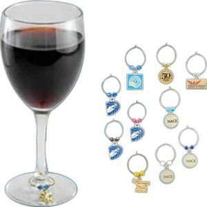 Wine Glass Charms, Custom Imprinted With Your Logo!