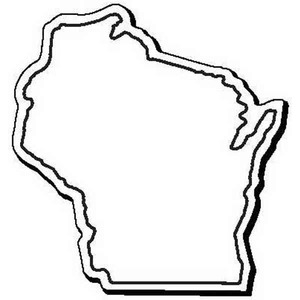 Custom Printed Wisconsin Shaped Magnets