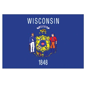 Wisconsin State Flags, Custom Imprinted With Your Logo!