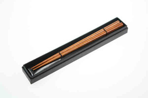 Custom Printed Wooden Brown Chopsticks with Cardboard Boxes
