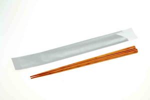 Custom Printed Wooden Brown Chopsticks with Pouches