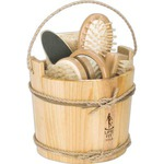 Custom Imprinted Wooden Bucket Spa Kits