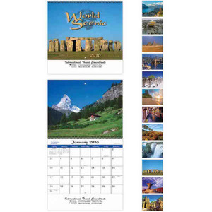 Custom Printed World Scenes with Recipes Appointment Calendars