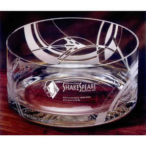 Wright Inspired Sea Whisper Container Crystal Gifts, Custom Imprinted With Your Logo!